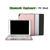 iPad 10.5 스마트 슬립 7 색상에 대 한 백라이트 빛 무선 블루투스 키보드 커버 케이스 iPad 프로 10.5 경우 A1701 A1709