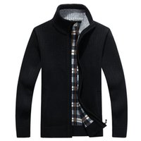 Men' s Knitted Sweaters Cardigans Collar Winter Wool Swe...
