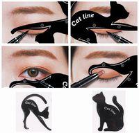 Büyüleyici Kedi Hattı Göz Makyaj Aracı Eyeliner Şablonlar Şablon Şekillendirici Modeli Başlayanlar Verimli Eyeline Kart Araçları