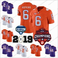 Clemson Tigers # 6 DeAndre Hopkins 25 Tankersley 50 Grady Jarrett 2018 National Champions Cotton Bowl Maglie calcio NCAA College S-3XL