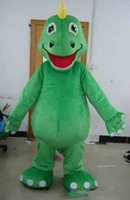 2019 factory sale hot plush fur suit green dino dinosaur mas...