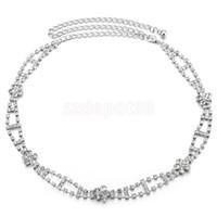 Cadeia mulheres metal Cristal cinto do vestido de casamento nupcial Cintura Diamante Rhinestone Hip Belt