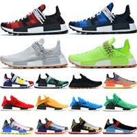 BBC blue red plaid NMD Human Race mens running shoes know so...