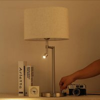 Nordic Современные минималистские лампы Мода Treative Гостиная Учебная Спальня Чтение Стояна Железная Американская Настольная Лампа LR003