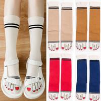 2017 Sonbahar Kış Yeni Güzel Kadın Çorap Bayan Kız Günlük Moda 3D Ayak Baskı Nefes Yumuşak Çorap