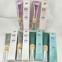 Alta qualidade! CC creme maquiagem foundation cosmético cremes médias médias / luz Primer Maquillage Marca Maquiagem Fundação.