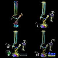 REANICE vidro Tubulação do fumo Bong quartzo Em Bongos grossas Recycler Percolators fumadores Telas Slides Joint-tronco Bubbler titulares Tubes Filtros Rig