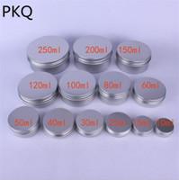 10ml / 15ml 50pcs / 25ml / 30ml / 50ml / 80ml / 100ml / 120ml / 150ml / 200ml / 250ml vide Jars aluminium cosmétiques bouteille crème contenants d'échantillons