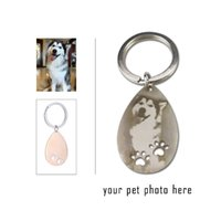 Photo dog tag custom dog tag photo keychain for pet love peo...