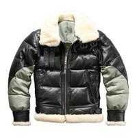 Ab3 설명 읽기! 아시안 사이즈 슈퍼 따뜻한 남성 정품 염소 가죽 재킷 매우 따뜻한 양 가죽 겨울 가죽 자켓
