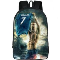 جيرسي ظهره Cristiano Ronaldo photo daypack Football 7 player C schoolbag حقيبة الظهر أوقات الفراغ حقيبة مدرسية الرياضة حزمة يوم في الهواء الطلق