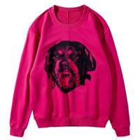 19FW 남성 스타일 후드 남성 높은 품질 스타일 스웨터 남성 여성 개 인쇄 패션 긴 소매 후드 스웨터