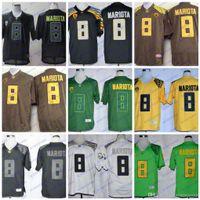 NCAA Oregon Утки 8 Маркус Мариота белый черный зеленый коричневый колледж футбол трикотаж