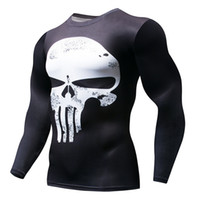 NEW Hot Sale Superman Punisher Rashgard Running Shirt Men T-...