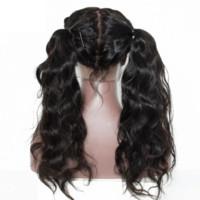 100% cheveux humains vague profonde dentelle Frontal perruque pré plumé Hairline vague profonde perruque haute densité pleine vague profonde Glueless Lace Wig