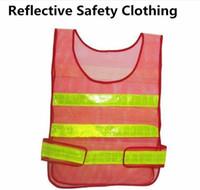 Yüksek Görünürlük Yansıtıcı Güvenlik Yelek Ceket Sanitasyon Yelek Trafik Güvenliği uyarı giysi yelek Güvenlik çalışma yelek kumaş