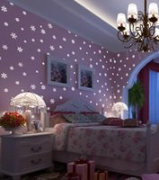 Luminous Wall Paper 3D Korean Style Romantic Snowflake Fluor...