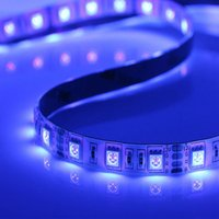 12v mayor llevó la tira UV 5050 SMD5050 púrpura esterilizar UV 390nm tira llevada luz de la cinta 1M 60leds impermeable ligero