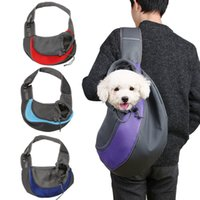Pawstrip Pet Sling Carrier Dog Bag Bolsa de viaje al aire libre Sling Dog Carrier Cat Bag Malla Transpirable Solo Cachorro Hombro S / L