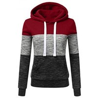 Autumn Women Harajuku Patchwork Hoodie Sweatshirt Casual Fem...