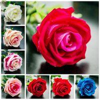 imitazione di seta rosa testa fiori artificiali Bouquet imitazione Rose falso matrimonio bouquet sposa casa della decorazione del partito LXL845Q