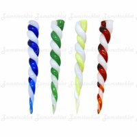 Ice Cream Glass Dabbler Tools 4.45 Inch Wax Dab Tool Thick Pyrex Glass Oil Burner Pipe Water Bongs Bubble Carb Cap Accessories