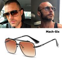 DPZ 2019 clásico de la manera Mach Seis estilo gafas de sol de la pendiente de la aviación Men Cool Marca Diseño Vintage los vidrios de Sun