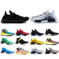 Üst Moda İnsan Yarışı Hu Trail Pharrell Williams Rahat Ayakkabılar Nerd Siyah Krem Erkek Eğitmenler Kadınlar Açık Runner Spor Sneakers ABD 5-12