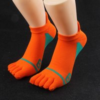Mens Five Finger Socks Fashion Trend 5 Pairs Man Stocking Cotton Casual Toe Breathable Designer Male Solid Colors Ankle Sock