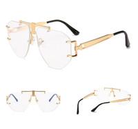 MOQ = 5 pcs Estilo Steampunk Steampunk Estilo Mecânico Moderno do vintage Das Mulheres Sem Aro Novo Design Da Marca Óculos de Sol Oculos De Sol 918