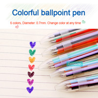 New 6 Colors Ballpoint Pen For Kawaii Diary, Office, Noteboo...