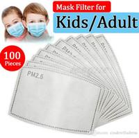РМ2,5 Фильтр для маски против Haze Mouth маски ЗАМЕНЯЕМОГО фильтра срезов 5 слоев Нетканого Угольного фильтра маску для лица прокладочного