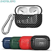 For AirPods Pro 2019 Carbon Fiber Texture Silicone Case for ...