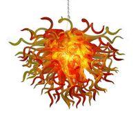 Hanging Wedding ferro battuto lampadario 110v-240v lampadine LED colorate di alta contemporanea soffitto commerciale Led Pendant Lighting