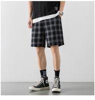 Griglia Shorts casuale sottile corto pantaloni al ginocchio Lunghezza 2020 uomini di stile giapponese maschile Estate Sport all'aria aperta Pantaloncini da corsa allentato Bottoms FY9118