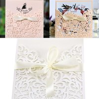 Laser Hollowing Out Congratulations Party Card Personality Flower Invitation To Marriage European Style With Various Pattern 2 2ym J1
