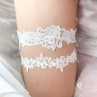 2pcs set Wedding Garters Lace Embroidery Floral Sexy Garters...