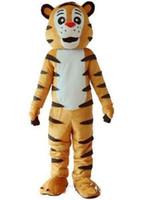2019 högkvalitativ tiger maskot kostym vuxen fancy klänning deluxe eva huvud