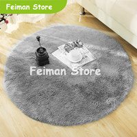 Fluffy Round Tappeto Tappeti per soggiorno Decor Faux Fur Carpet Kids Room Long Peluche Tappeti per camera da letto Shaggy Tappeto moderno Tappeto