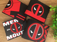 Marvel Deadpool Superhero Dead Warrior Monedero plegable Cartera Tarjeta de estudiante
