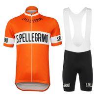 Estate calda di vendita 1976 Retro Orange Ciclismo Jersey ed i bicchierini GEL traspirante pastiglie freno gli uomini di montagna a manica corta vestiti bici da strada biking