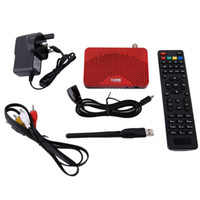 Envío gratuito Mini tamaño Digital 1080P DVB-S2 FTA Receptor IKS Cable de video Cccam Internet Power Vu PVR Registro EPG + 5370 USB Wifi