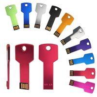 Устройство Real металлоемкости Key USB флэш-накопитель Memory Stick 32GB 128MB 1GB 4GB 64GB Pendrive хранения