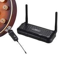 AROMA ARU-03S UHF Système de transmission du son sans fil pour guitare Émetteur Récepteur True Diversity Batterie intégrée Max. Gamme 20M
