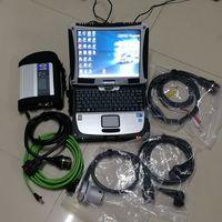 MB STAR C4 SD Compact 4 Auto Diagnostic Tool con V06.2021 x Das VediaMo HHT DTS 360GB SSD utilizzato CF-19 I5 4G Toughbook per Mercedes