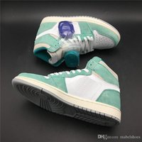 Turbo Green Basketball Shoes 1s Upper Suede Lake Green White...