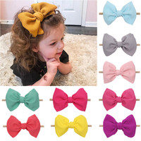 Kids Girls Solid Hairband 6 Inch Waffle Nylon Headband Baby ...
