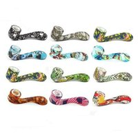 Impression Sherlock Tuyau silicone Water Pipe Couleur ultime outil de tabac Pipes huile aux herbes cachées Bowl MOQ 1 Piece