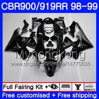 Bodys For HONDA CBR 919RR CBR 900RR CBR919RR 1998 1999 278HM.32 CBR900RR Silver flames hot CBR 919 RR CBR900 RR CBR919 RR 98 99 Fairing kit
