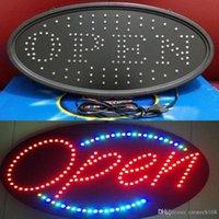 Bar aberto led luzes sinal de néon aberto led diodo emissor de luz sinal aberto sinal de propaganda placa de exibição elétrica